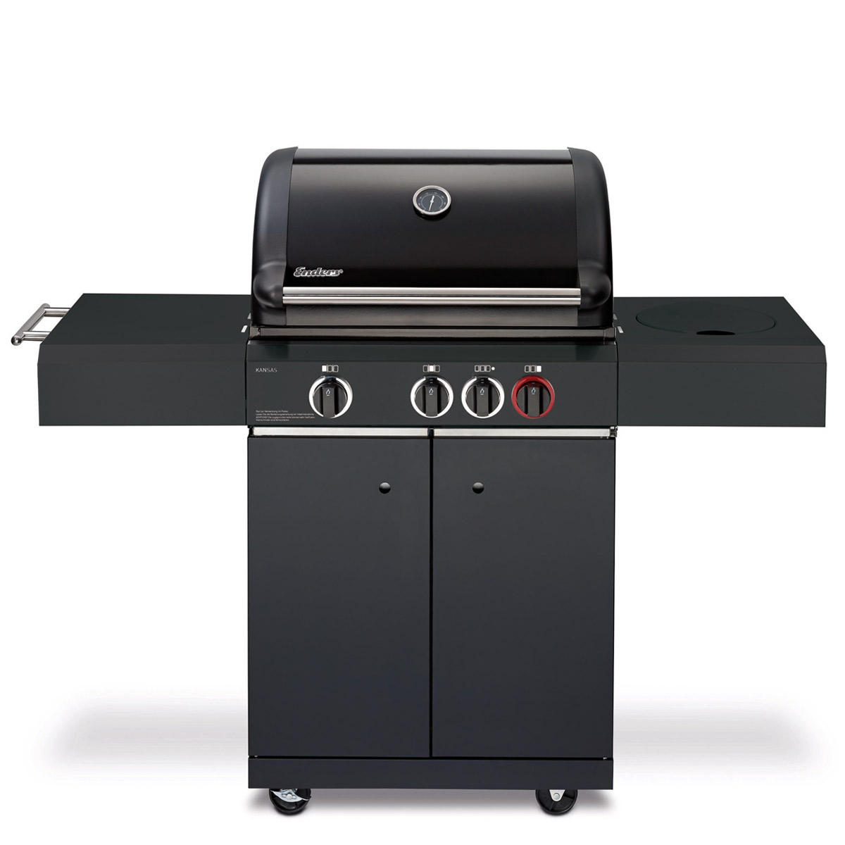 enders gasgrill kansas black 3k turbo sc grill profi. Black Bedroom Furniture Sets. Home Design Ideas